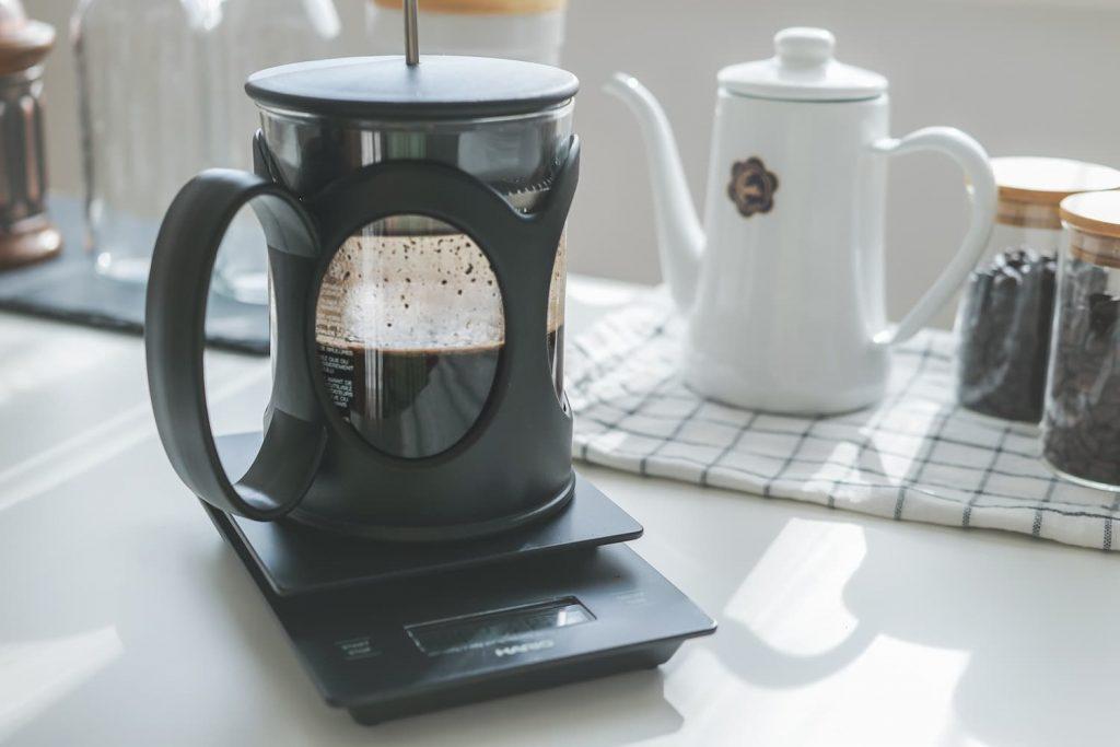 フレンチプレスコーヒー抽出 (2)