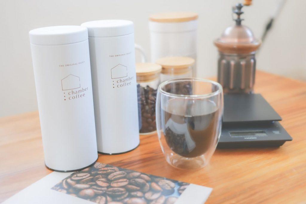 チャンバーコーヒーのオリジナル保存缶イメージ