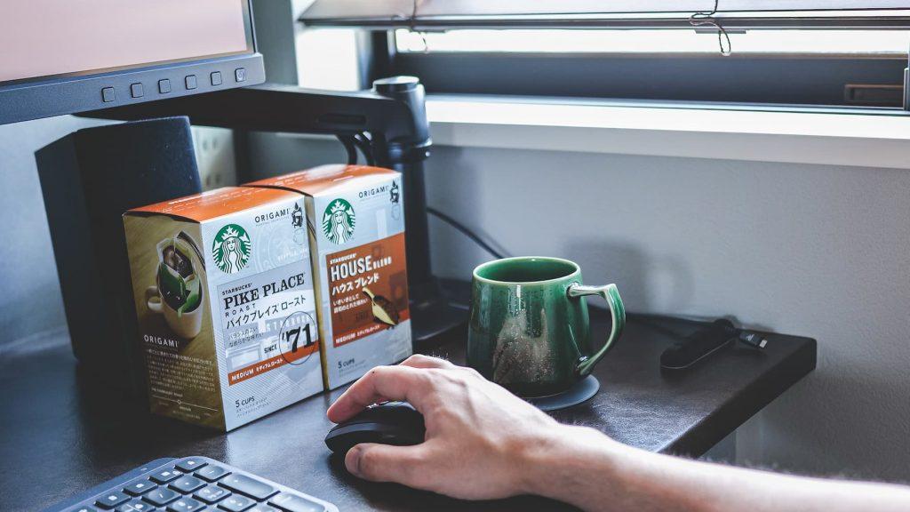 スターバックスオリガミパーソナルドリップコーヒーイメージ写真