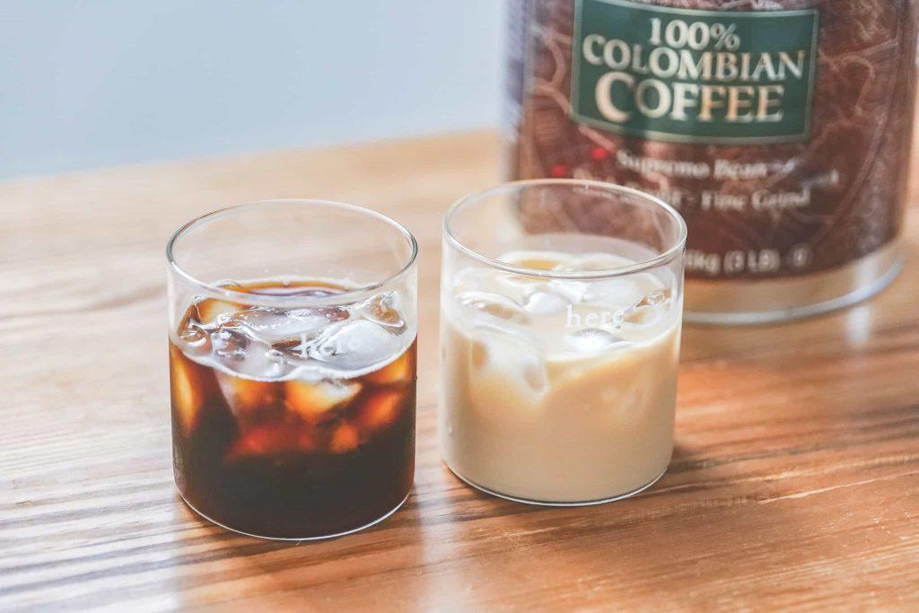 コロンビアコーヒーのアイスコーヒー