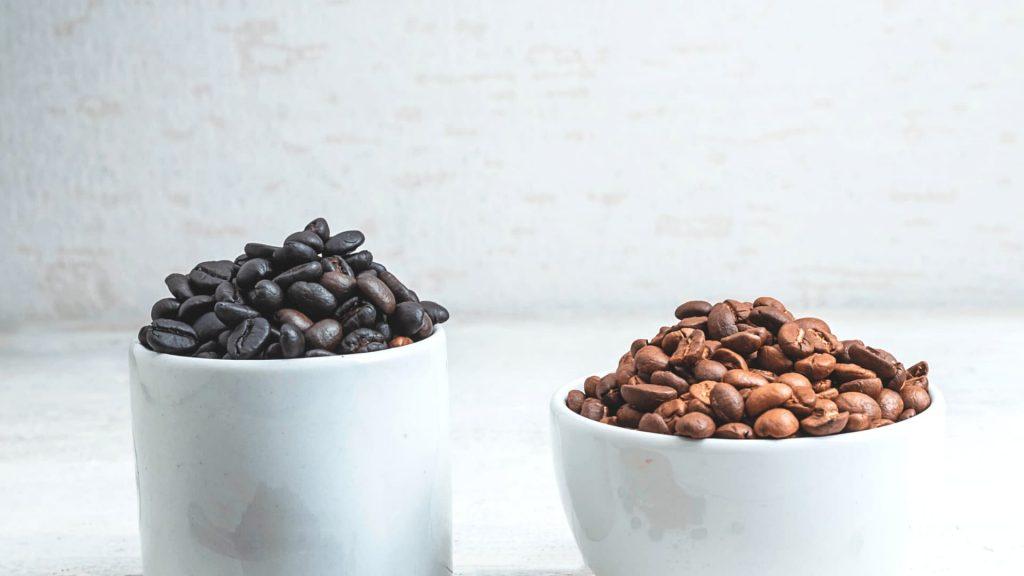 コーヒー豆の焙煎度の違い